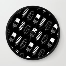 Summer Ice Lollies (Black) Wall Clock