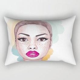 Big brown eyes Rectangular Pillow