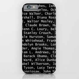 African American Literary Rebels iPhone Case