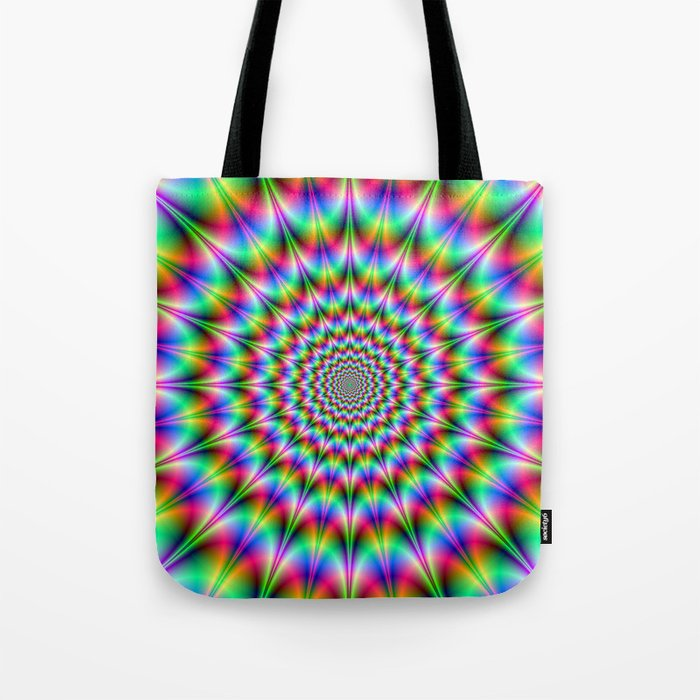 Psychedelic Explosion Tote Bag