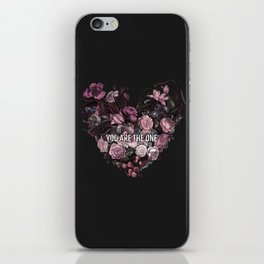 You Are The One // Floral Valentine's Heart iPhone Skin