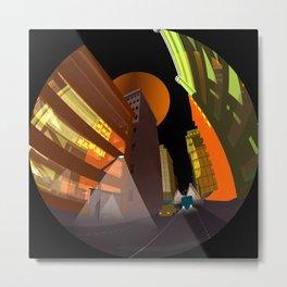 circular images on black -20- Metal Print