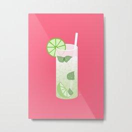 Mojito Rum Cocktail Metal Print