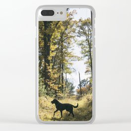 A Walk with Charlie Clear iPhone Case