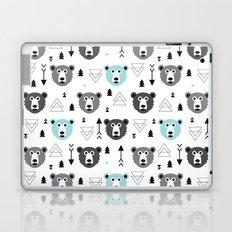Geometric grizzly bear and arrows Laptop & iPad Skin