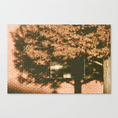 autumn tree, shadow Canvas Print