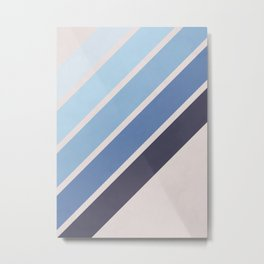Blue Color Drift Metal Print