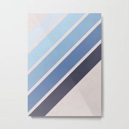 Blue Color Drift Metal Print