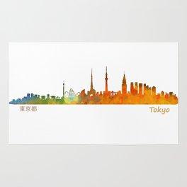 Tokyo City Skyline Hq V1 Rug