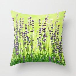 #Lavender #green #violett #Pattern Throw Pillow