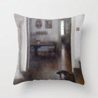 shadow Throw Pillows featuring Shadow by Aurelia Burnham