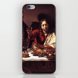 Supper at Emmaus - Caravaggio iPhone Skin