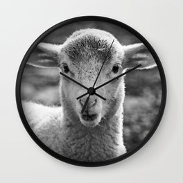 Portrait of a little cute Lamb Wall Clock