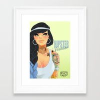 jasmine Framed Art Prints featuring Jasmine by Emmanuel Viola