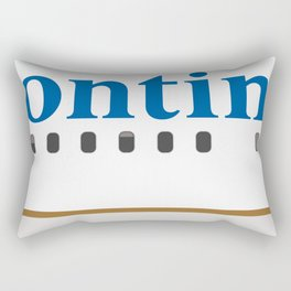 Plane Tees - Continental Airlines Rectangular Pillow