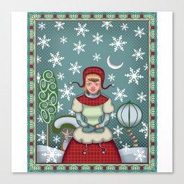 peaceful snow  Canvas Print