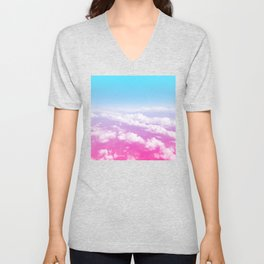 Pink Summer Flight Unisex V-Neck