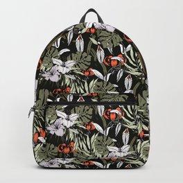 Dark tropical pattern I Backpack
