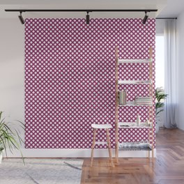 Festival Fuchsia and White Polka Dots Wall Mural