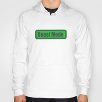 fitness Hoodies featuring Beast Mode #Fitness #Graphic by Tim Jay Thompson