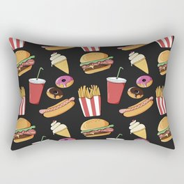 Fast-food (black) Rectangular Pillow