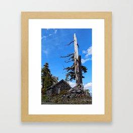 Stone Hut Snag Framed Art Print
