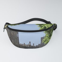 Ij petry, trees in Vorontsovsky park in Crimea, May 2019 Fanny Pack