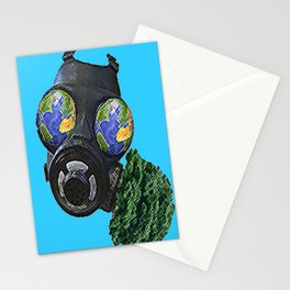 World War Green Stationery Cards