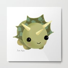 BABY DINOSAUR / TRICERATOPS / CUTE MONSTER Metal Print