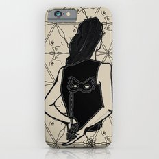 woman holding mask in back Slim Case iPhone 6s