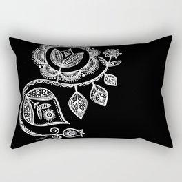 White Flower 15 Rectangular Pillow