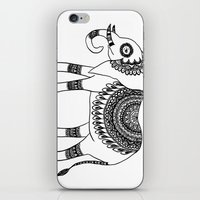 henna iPhone & iPod Skins featuring Henna Elephant by Julie Erin Designs