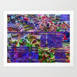 Alien Puke Glitch Art Print