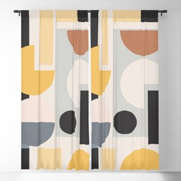 Abstract Geometric Shapes 136 Blackout Curtain