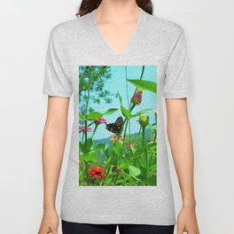 Butterfly with a View Unisex V-Neck