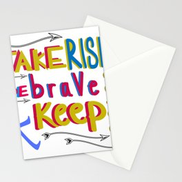 take risk and be brave Stationery Cards