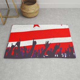 Washington DC Flag with Audience Rug