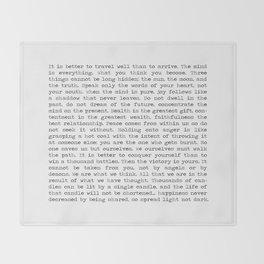 The Wisdom of Buddha Throw Blanket