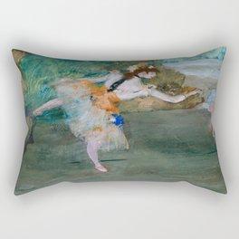 "Edgar Degas ""Dancer on stage"" Rectangular Pillow"