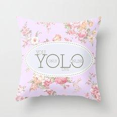 Y O L O Throw Pillow