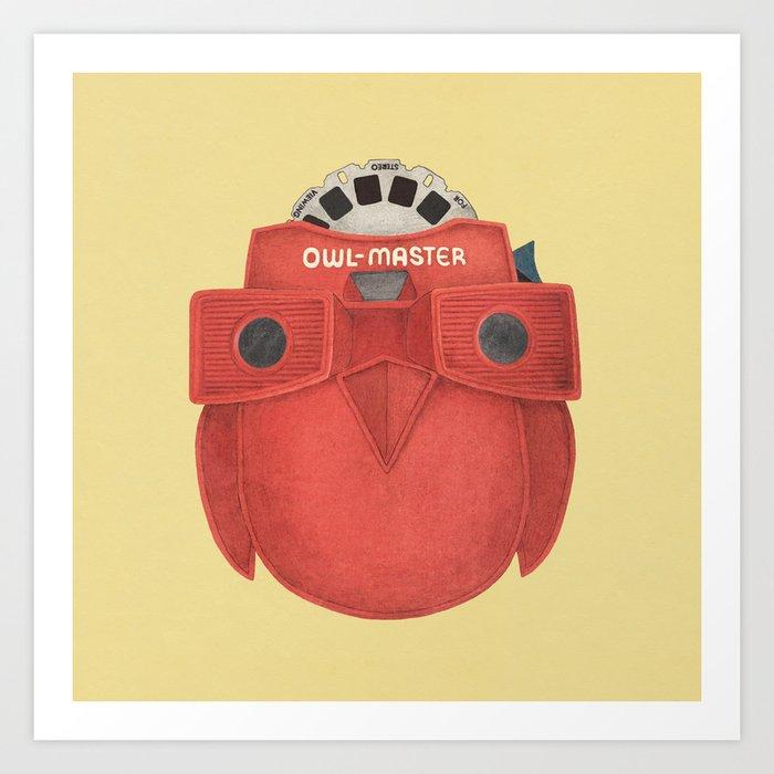Owl-Master Art Print
