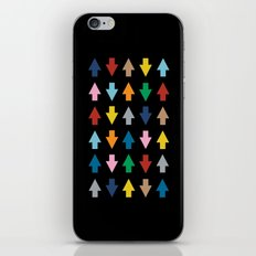 Arrows Up and Down Black iPhone & iPod Skin