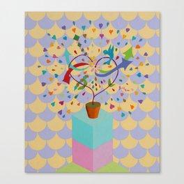 LOVE GROWS Canvas Print