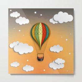 Balloon Aeronautics Dawn Metal Print
