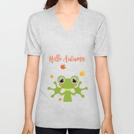 Little Frog Happy Autunm - Fall Begins Unisex V-Neck