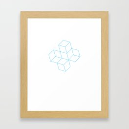 Cubes - Cyan Framed Art Print