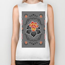 Abstract floral ornament Biker Tank