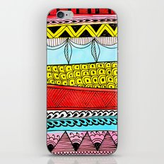 Illustrated Stripes in Modern Patterns iPhone Skin