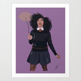 Black Hermione Art Print