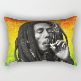 marley bob general portrait painting | Up In Smoke Fan Art Rectangular Pillow